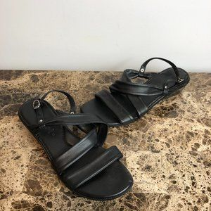 Italian Shoemakers Black Strappy Sandals 8